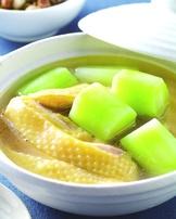 綠花椰菜心雞湯