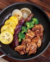 香煎蔬菜雞腿排