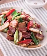 蒜苗臘肉(3)