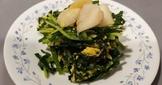 韭菜炒蛋佐干貝