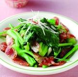 芥藍菜炒臘腸