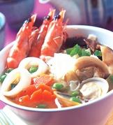 海鮮蛋餅湯