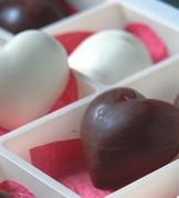 雙色心形巧克力
