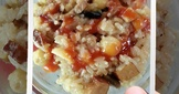 蓮子油飯~簡易電子鍋版