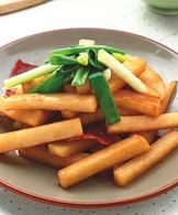 豆薯炒培根
