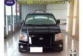2004年 鈴木 SOLIO 黑 1.3 ABS  防盜 倒車雷達 中控鎖 電動窗 安全氣囊 電動後視境 碳纖維飾板