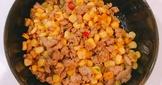 玉米粒炒絞肉