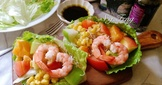 鮮蝦蔬果油醋沙拉