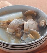蛤蜊冬瓜雞湯