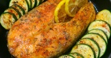 匈牙利紅椒烤鮭魚佐櫛瓜