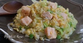 【一鍋到底】鮭魚高麗菜蛋炒飯