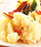臘肉炒白花椰