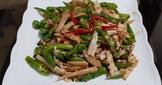 青龍炒筍子(家常菜)