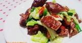 蔗燻鴨腿炒高麗菜