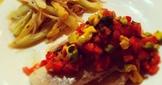 蒜香白酒魚排 佐巴西里番茄酪梨醬