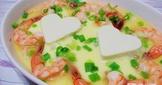 [電鍋料理】豆腐心鮮蝦蒸蛋