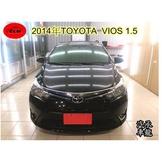 2014年 豐田 vios  1.5  黑色