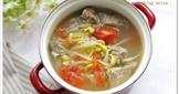 [黃豆芽番茄排骨湯]簡易家常菜