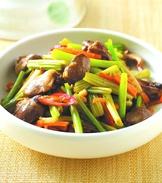 芹菜炒雞心