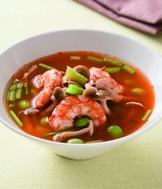紅蘿蔔鮮蝦芹菜湯