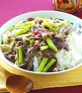 香椿牛肉滑蛋燴飯