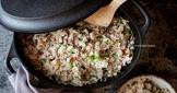 香菇蘆筍絞肉紅蘿蔔炊飯