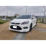 桃園阿福_優質中古車 2012年 福特 Focus 5D 2.0柴油 白色 改大包+尾翼+輪框