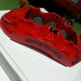 C63 AMG 紅色 前6後4卡鉗組 跌盤 來令片 全正廠