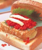 豆腐魚卵三明治