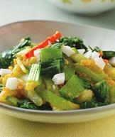 鹹蛋青江菜(1)