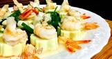 鮮蝦干貝蛋豆腐蒸