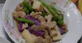 雞胸肉炒山藥四季豆