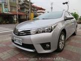 豐田ALTIS 1.8 認證車2015年領牌要買要快全額貸可參考