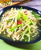 芹菜炒金針菇