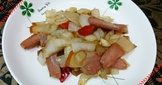 臘肉炒洋蔥(簡單料理)