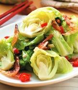 高麗菜苗炒櫻花蝦