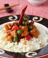 三椒尖雞燴飯