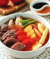 牛肉蕃茄蔬菜鍋