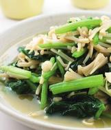菠菜炒金針菇