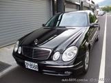 自售車/賓士總代理2003年E320黑色/前後天窗/無大小事故車/原版件馬力大讚