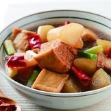蘿蔔滷油豆腐