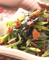 蔥油拌地瓜葉(1)