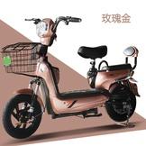 香豆電動車特價電動自行車48V伏電瓶車特價電動車成人女士電動車