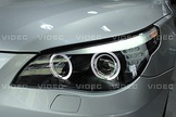 威德汽車 HID 寶馬 BMW E60 黑底 LED 雙光圈 雙魚眼 DRL 光柱 燈眉 LED 方向燈 大燈 總成
