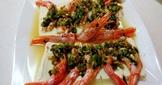 蒜泥蒸紅蝦
